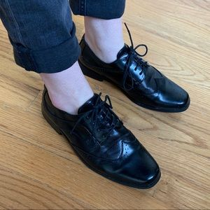 shiny oxfords